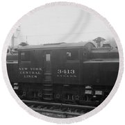 New York Central Railroad Round Beach Towel