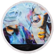 4 Non Blondes - Linda Perry Round Beach Towel