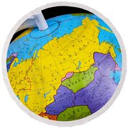 Old rotating world map globe poster by donald erickson old rotating world map globe round beach towel gumiabroncs Image collections