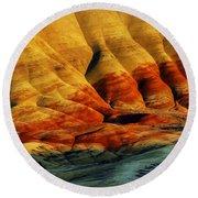 Painted Hills - Oregon Round Beach Towel