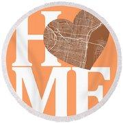 Philadelphia Street Map Home Heart - Philadelphia Pennsylvania R Round Beach Towel