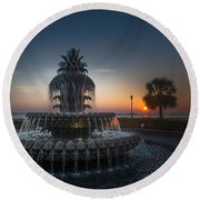 Charleston Sunrise  Round Beach Towel