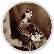 Portrait Of Jane Morris Round Beach Towel