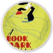 Poster Books, C1938 Round Beach Towel