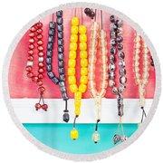Prayer Beads Round Beach Towel