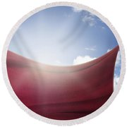 Qatar Flag Round Beach Towel