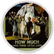 Red Cross Poster, 1917 Round Beach Towel