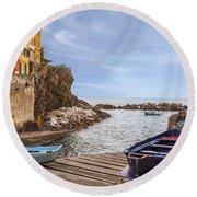 Riomaggiore Round Beach Towel by Joana Kruse