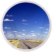 Road Ahead Round Beach Towel