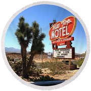 Route 66 - Hill Top Motel Round Beach Towel
