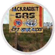 Route 66 - Jack Rabbit Trading Post Round Beach Towel