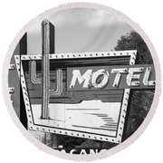 Route 66 - Western Motel Round Beach Towel