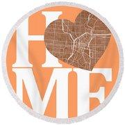 San Antonio Street Map Home Heart - San Antonio Texas Road Map I Round Beach Towel