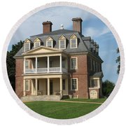 Shirley Plantation Round Beach Towel