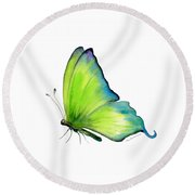 4 Skip Green Butterfly Round Beach Towel