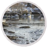 South Bristol On The Coast Of Maine Round Beach Towel by Keith Webber Jr