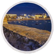 Spa Of Our Lady Of The Palm Cadiz Spain Round Beach Towel