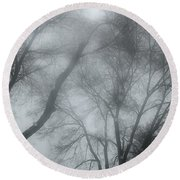 Storm Trees Round Beach Towel