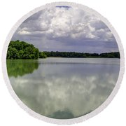 4-summer Time At Moraine View State Park Round Beach Towel