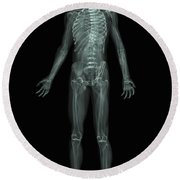 The Skeletal System Round Beach Towel