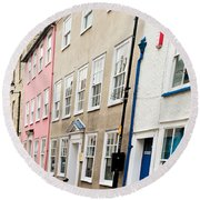 Town Houses Round Beach Towel by Tom Gowanlock