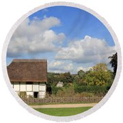 Traditional Cottage Sussex Uk Round Beach Towel