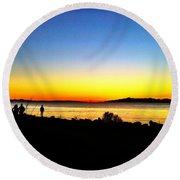 Sunset IIi Round Beach Towel