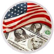 Usa Finance Round Beach Towel