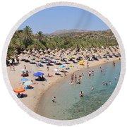 Vai Beach Round Beach Towel
