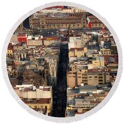 View From Torre Latinoamerican Round Beach Towel