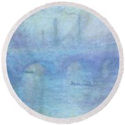 Waterloo Bridge Round Beach Towel