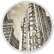 Willis Group And Lloyd's Of London Art Round Beach Towel