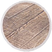 Wooden Floor Round Beach Towel