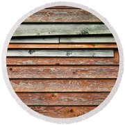 Wooden Panels Round Beach Towel
