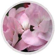 Zonal Geranium Named Tango Light Orchid Round Beach Towel