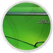 40 Ford - Side Logo-8677 Round Beach Towel