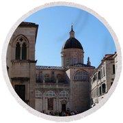 Views Of Dubrovnik Croatia Round Beach Towel