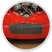 '41 Willy's Coupe Street Rod Round Beach Towel