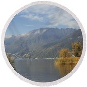 Lake Maggiore Round Beach Towel by Joana Kruse