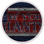 New York Giants Round Beach Towel