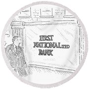 First Nationalized Bank Round Beach Towel