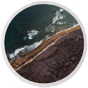 Aerial Photo Round Beach Towel