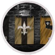 New Orleans Saints Round Beach Towel