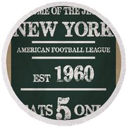 New York Jets Round Beach Towel