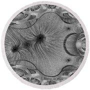 459 - Design Abstract 1 Round Beach Towel