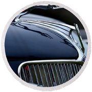 Classic Ford Detail Round Beach Towel