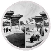 China Boxer Rebellion Round Beach Towel