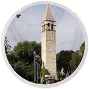 Views Of Split Croatia Round Beach Towel