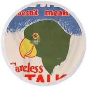 Wwii Poster, C1943 Round Beach Towel