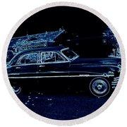 49 Packard Survived Round Beach Towel